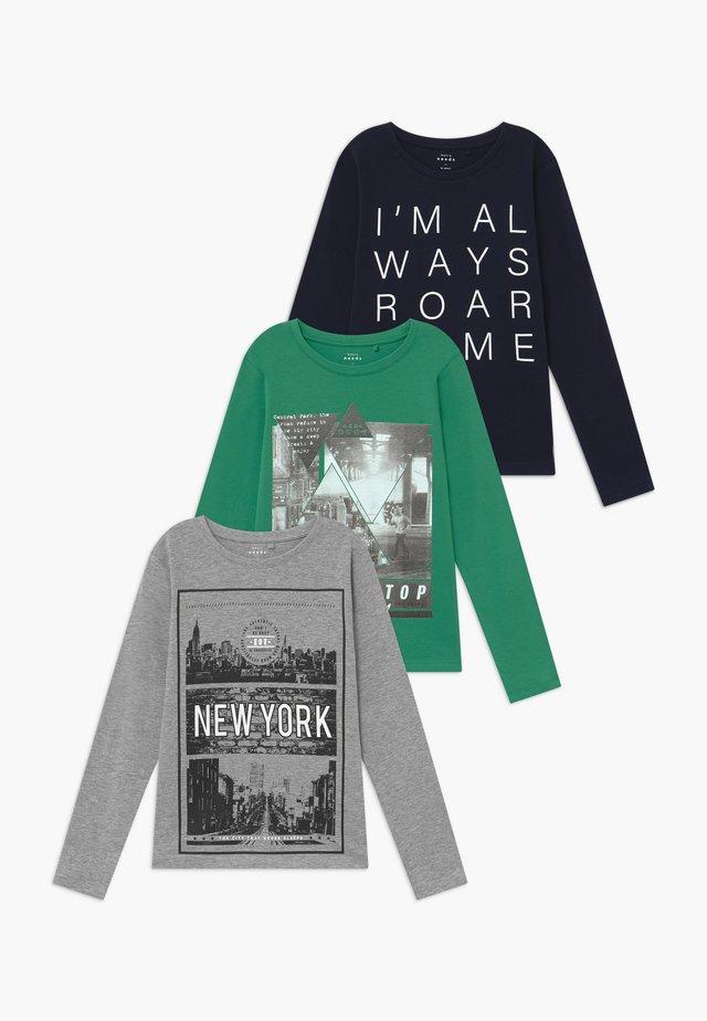 NKMVAGNO 3 PACK  - Bluzka z długim rękawem - leprechaun/grey melange