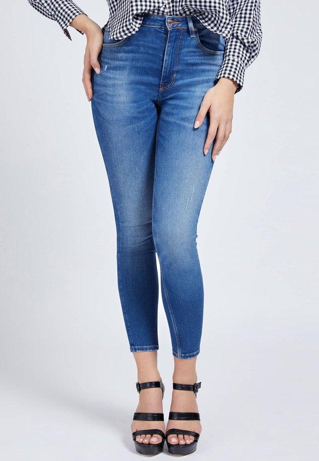 SUPER STRETCH - Jeansy Skinny Fit - blau