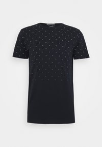 WITH ALLOVERPRINT - Print T-shirt - navy small wave