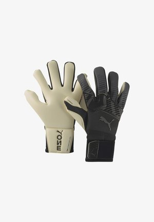 Goalkeeping gloves - puma black-asphalt-white