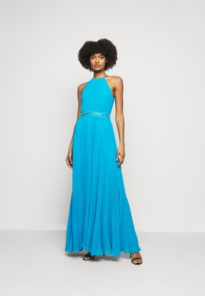 HALTER CHAIN - Maxi dress - cyan blu