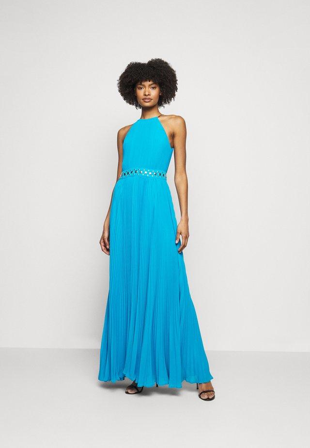 HALTER CHAIN - Długa sukienka - cyan blu