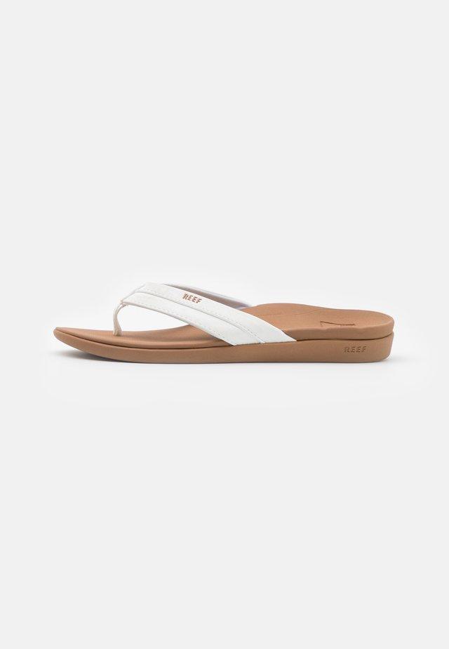 ORTHO COAST - Flip Flops - tan/white