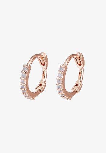 MYSTIC HUGGIES - Earrings - rosegold-coloured