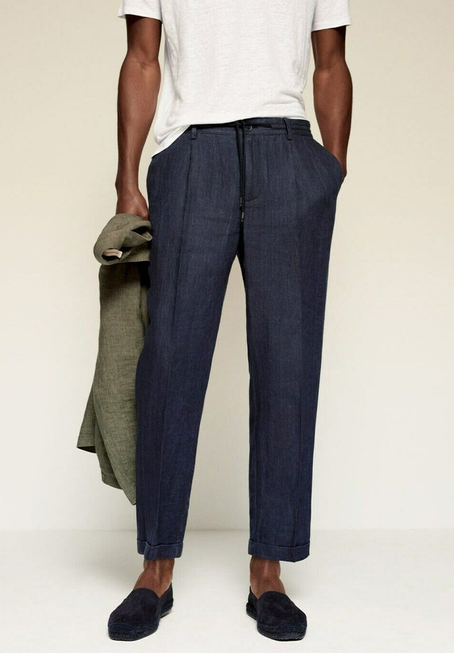 Trousers - blu marino scuro