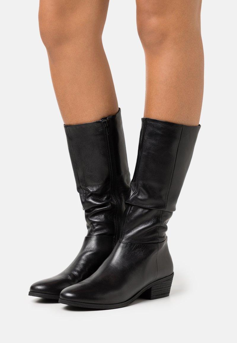 Steven New York - SOLANGE - Vysoká obuv - black