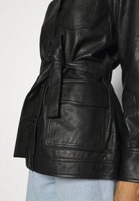 Part Two - HURI - Leather jacket - black - 6
