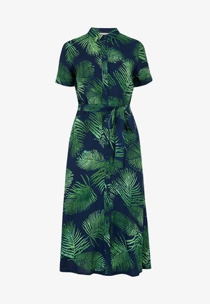 KENDRA PALM TREE  - Shirt dress - green, blue