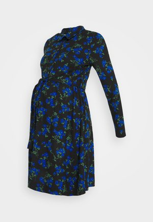 FLORAL PRINT SOFT TOUCH DRESS - Vestido ligero - black