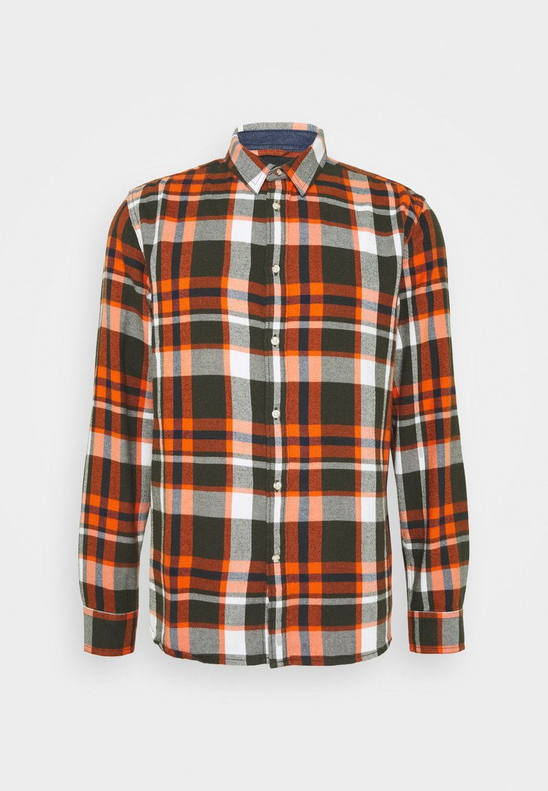 KnowledgeCotton Apparel - LARCH CHECKED - Shirt - forrest night