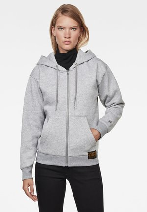 PREMIUM CORE HOODED ZIP THRU LONG SLEEVE - Zip-up hoodie - grey htr