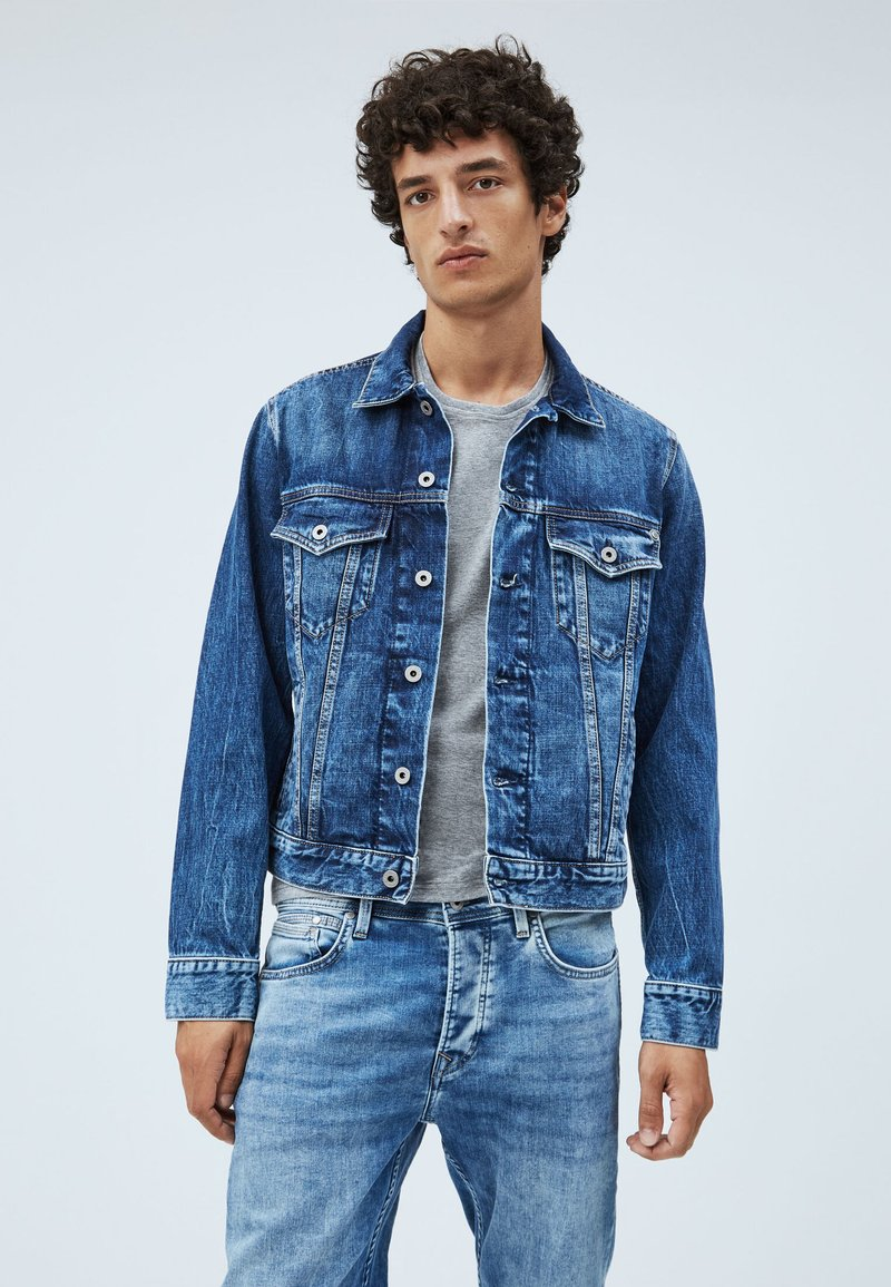 Pepe Jeans - PINNER - Denim jacket - dark blue