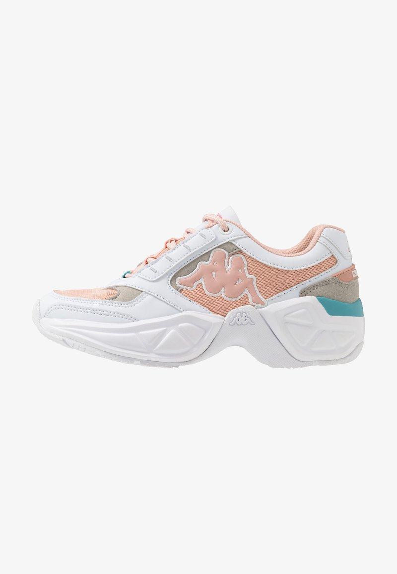 Kappa - KRYPTON - Sports shoes - white/darkrosé