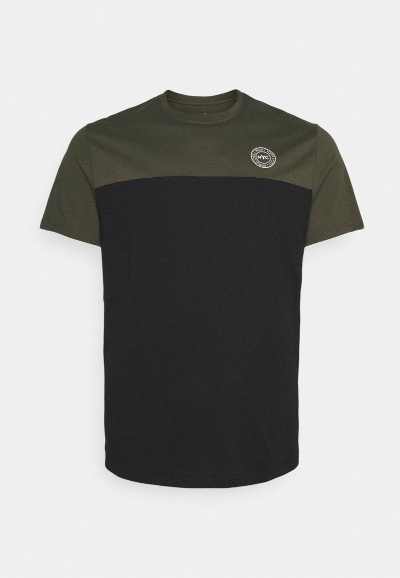 Johnny Bigg - SPLICE LONGLINE SCOOP TEE - Print T-shirt - khaki