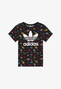 adidas Originals - T-shirt med print - black/multicolour/white - 2