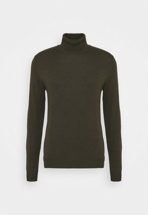JJEEMIL ROLL NECK - Svetr - olive night melange