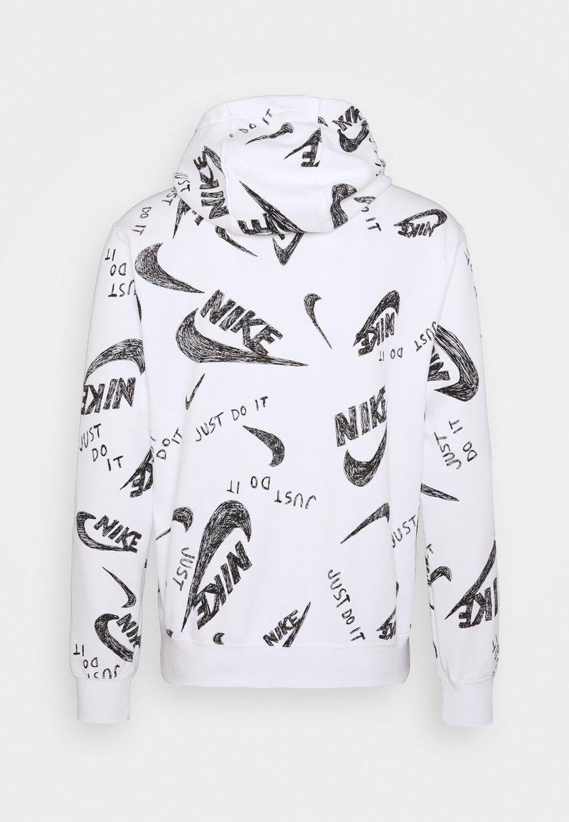 Corte Podrido persona  Nike Sportswear CLUB HOODIE - Felpa con cappuccio - white/black/bianco -  Zalando.it
