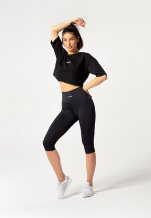 HYPERION TULLE CAPRI LEGGINGS - Legging - black