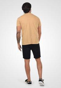 Solid - Denim shorts - black dnm - 2