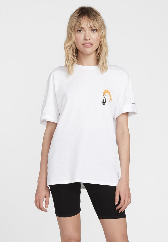 AYERS FA SS - Print T-shirt - white