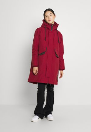 HOODED FISHTAIL - Winter coat - chateaux red