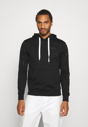 CORE GRAPHIC HOODED LONG SLEEVE - Sweat à capuche - dark black