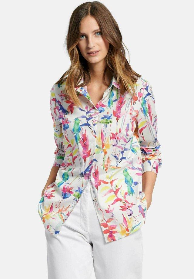 Overhemdblouse - ecru/multicolor