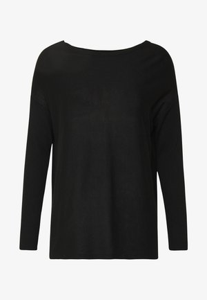 BASIC- RELAXED BOAT NECK JUMPER - Jumper - black