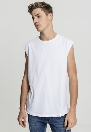 OPEN EDGE SLEEVELESS TEE - Toppi - white