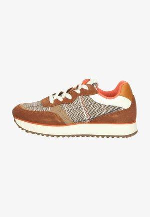 Sneakers laag - toffee/orange