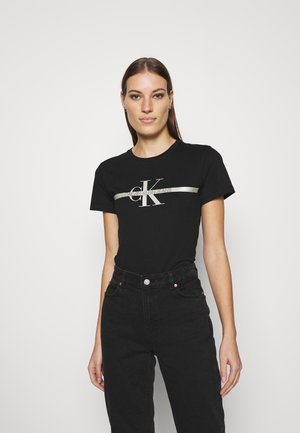 MONOGRAM TEE - Print T-shirt - black