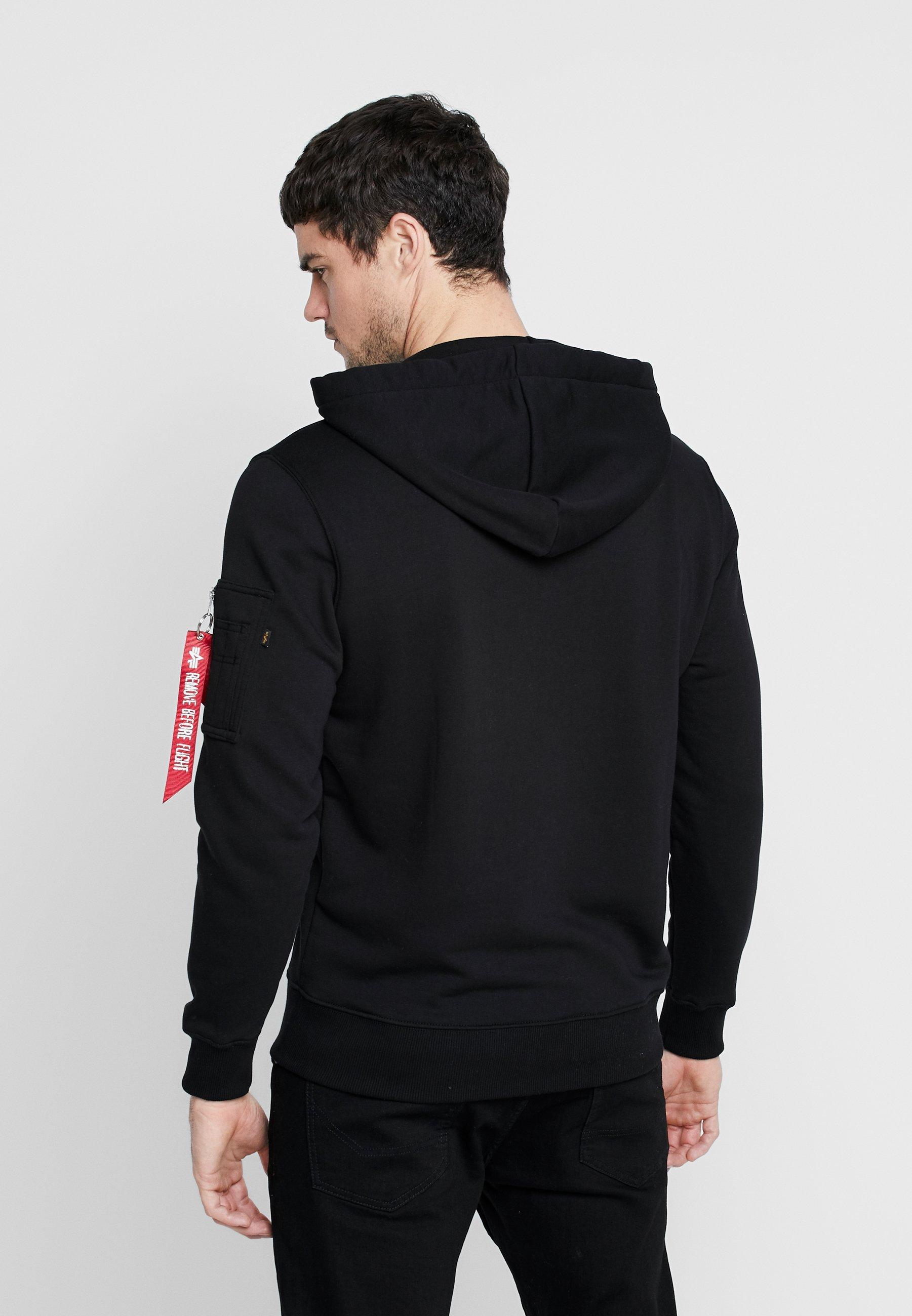 Qualità Abbigliamento da uomo Alpha Industries Felpa con cappuccio black