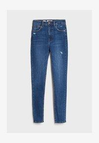 Bershka - MIT SEHR HOHEM BUND  - Jeans Skinny - blue - 4