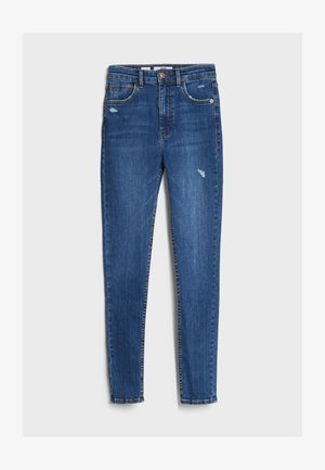 MIT SEHR HOHEM BUND  - Jeans Skinny Fit - blue
