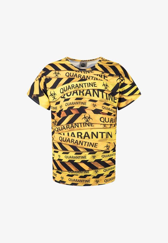 QUARANTINE  - Print T-shirt - yellow