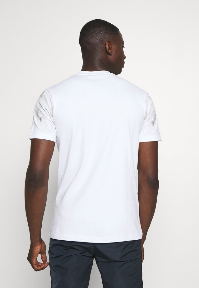 TIE DYE SLEEVE - Print T-shirt - white