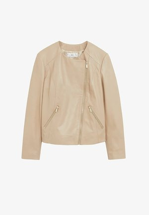 FELIPA - Leather jacket - beige