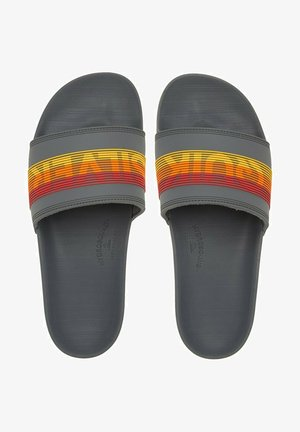 RIVI WORDMARK  - Mules - grey/grey/red