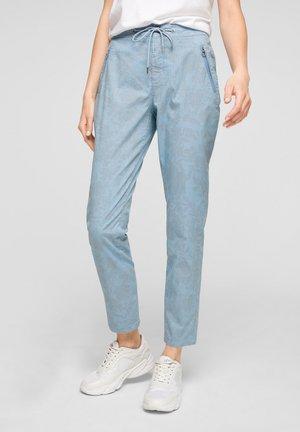 Trousers - light blue aop