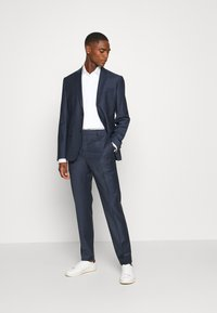 Calvin Klein Tailored - STRETCH SMALL GRID SUIT - Trousers - blue - 1