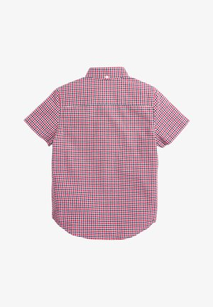 RED/NAVY/WHITE SHORT SLEEVE GINGHAM OXFORD SHIRT (3-16YRS) - Košile - red