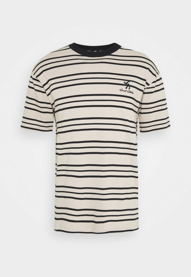 UNISEX SWEET LOOSE STRIPED TEE - Camiseta estampada - ecru/black