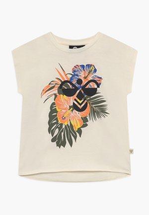 ODA - Print T-shirt - whisper white