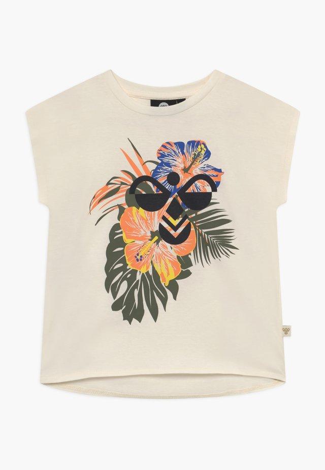 ODA - T-shirt con stampa - whisper white