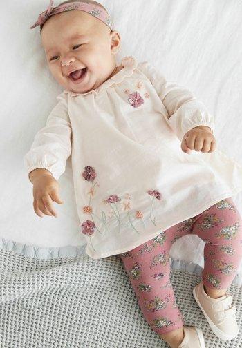 SET OF 3 - Leggings - pink