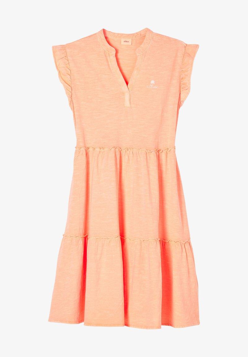 s.Oliver - Jersey dress - neon peach