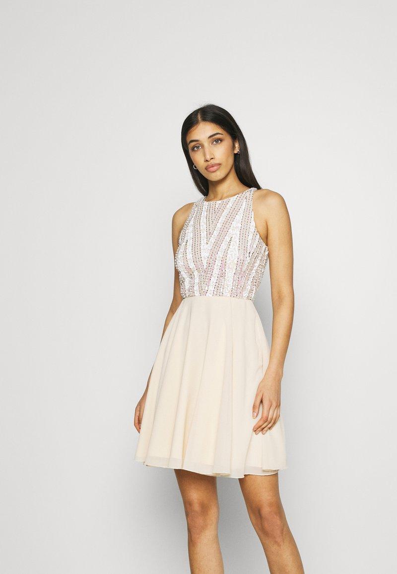 Lace & Beads - ADDISON SKATER - Sukienka koktajlowa - beige