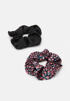 RASPY SCRUNCHIE 2 PACK - Hair styling accessory - black
