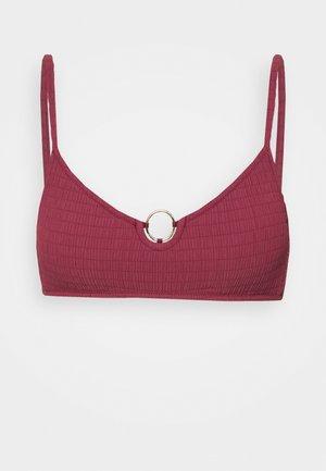 WATERCULT SOLID CRUSH - Bikinitop - deepest ruby