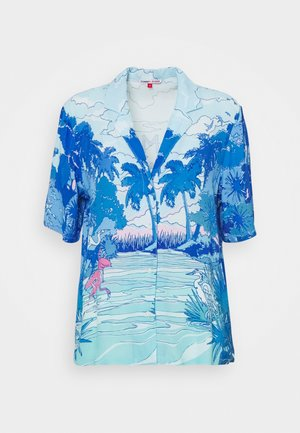 PRINTED BOWLING  - Button-down blouse - blue